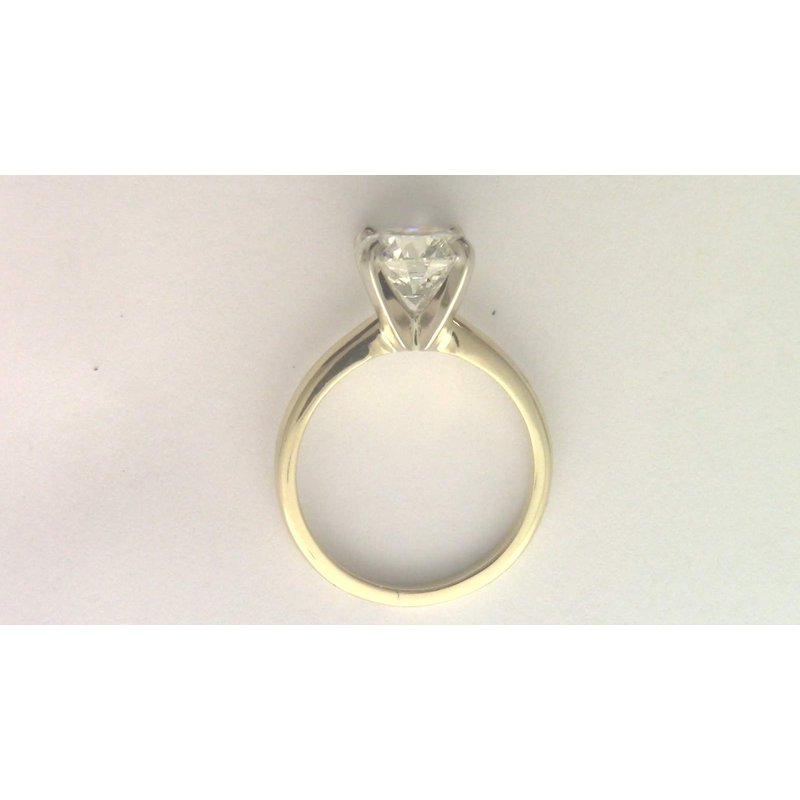 Pugh's Signature 14k yellwo gold diamond solitaire ring