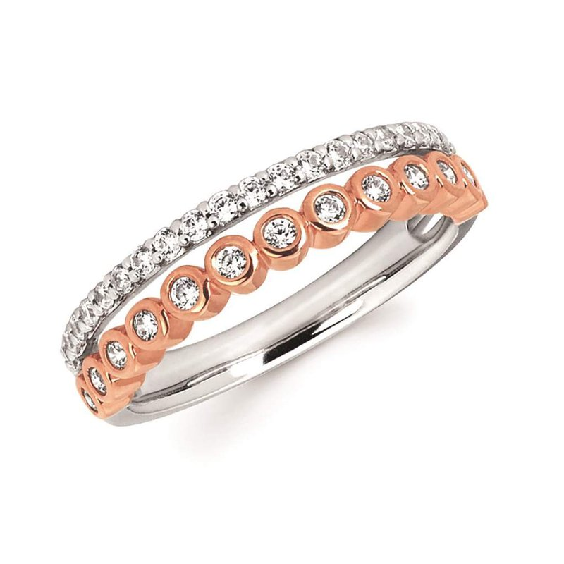 Ostbye 14k White And Rose Gold Diamond Ring