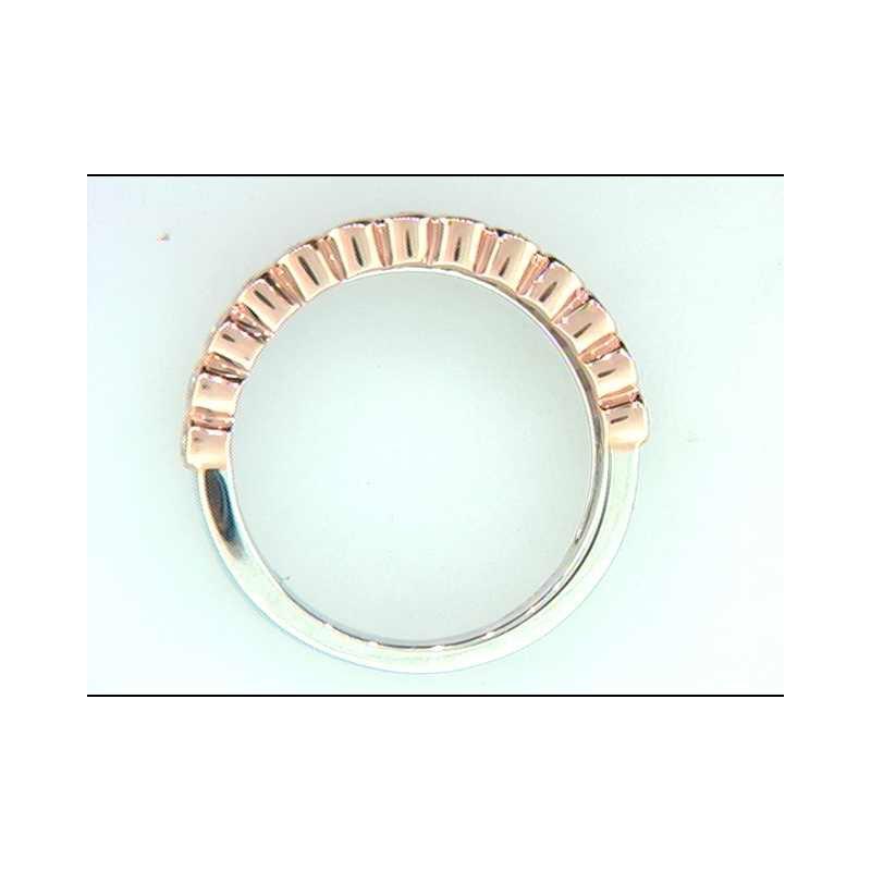 Ostbye 14k White And Rose Gold Diamond Ring