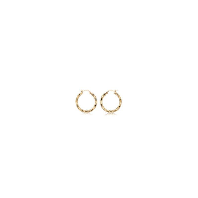 Pugh's Signature 14k Yellow Gold Earring