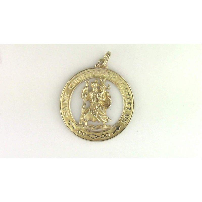 Pugh's Signature 14k Yellow Gold St. Christopher Medal/pendant