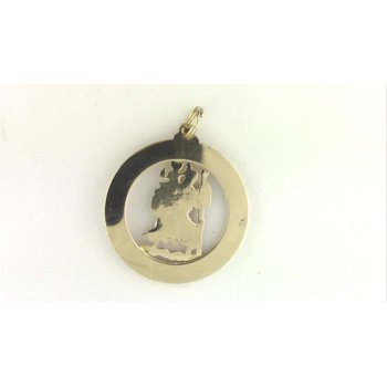 14k Yellow Gold St. Christopher Medal/pendant