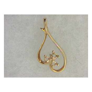 14k Yellow Gold Pendant Mounting