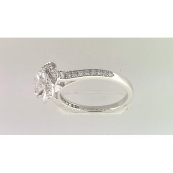 Ladies' 14k White Gold 6 Mm CZ Semi Mount Ring