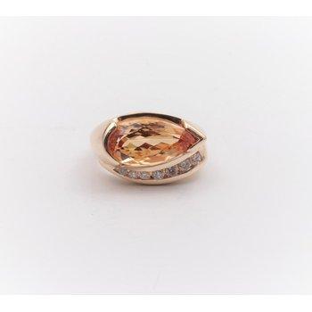 14k Yellow Gold Precious Topaz Ring