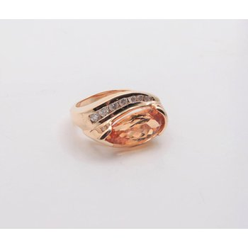14k Yellow Gold Precious Topaz Ring