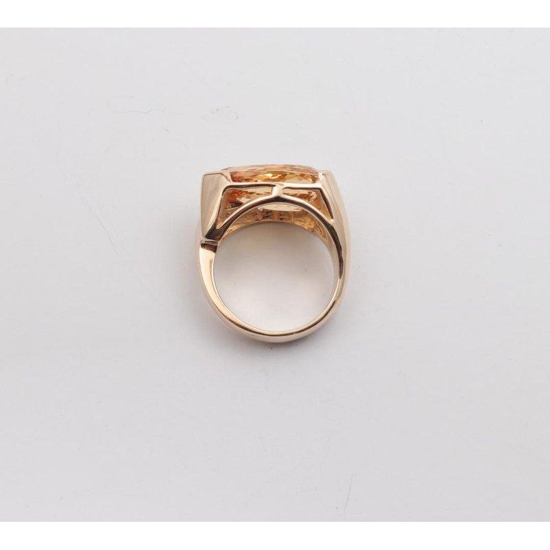 Pugh's Signature 14k Yellow Gold Precious Topaz Ring