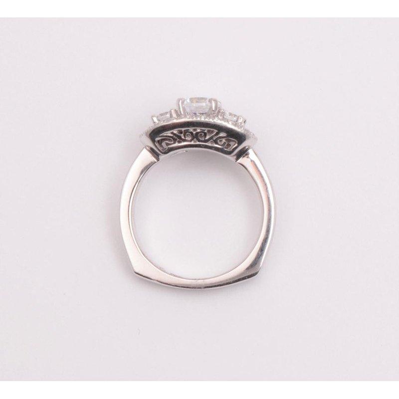 Pugh's Signature Ladies' 6 Mm CZ Diamond Semi Mount Ring