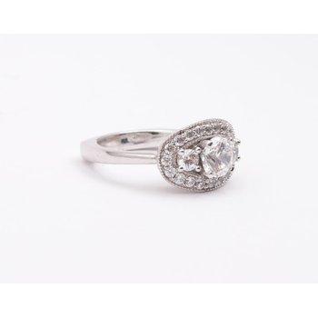 Ladies' 6 Mm CZ Diamond Semi Mount Ring