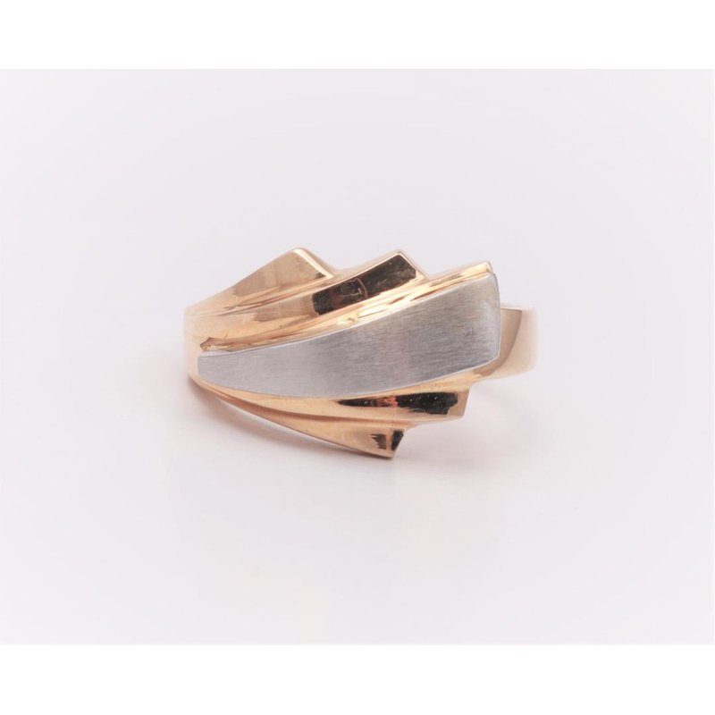 Pugh's Signature 14k White And Yellow Gold Ring Mounting