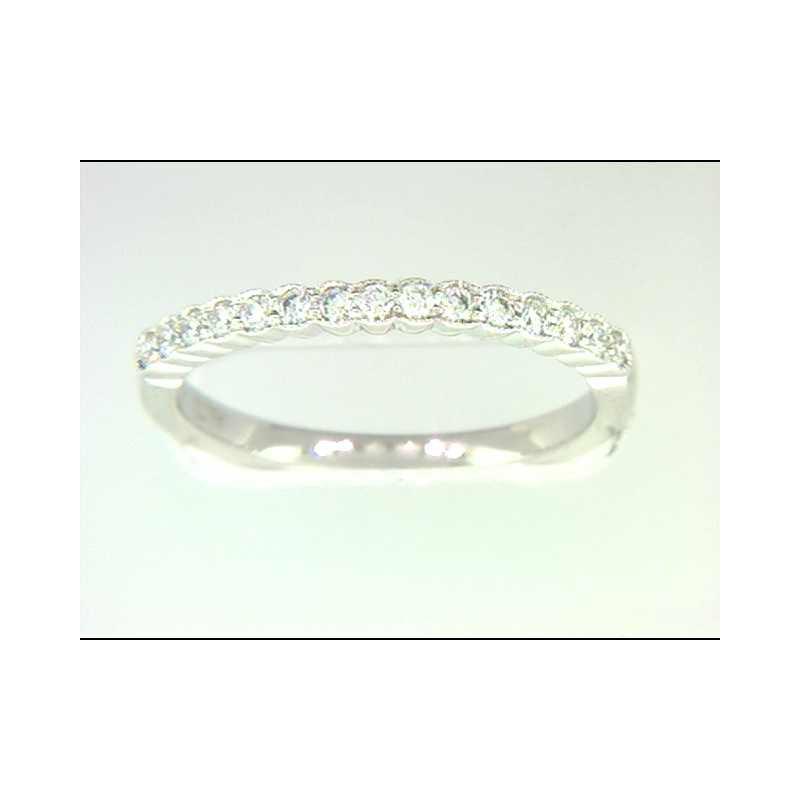 Pugh's Signature Ladies' 14k White Gold Diamond Wedding Ring