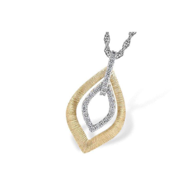 Allison-Kaufman 14k White And Yellow Gold Diamond Pendant