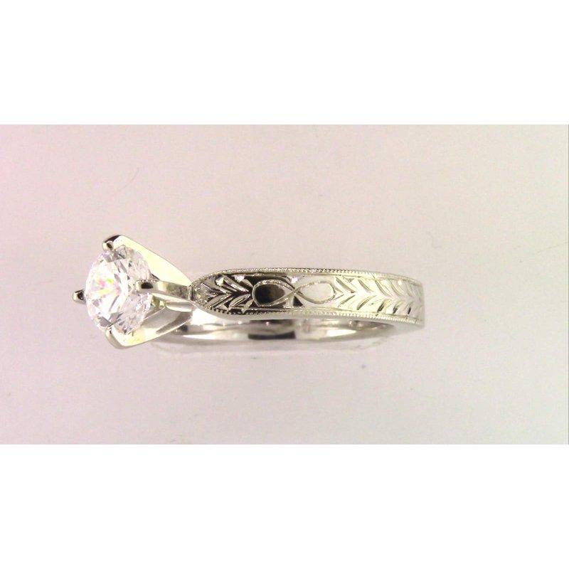 Pugh's Signature Ladies' 18k White Gold Ring