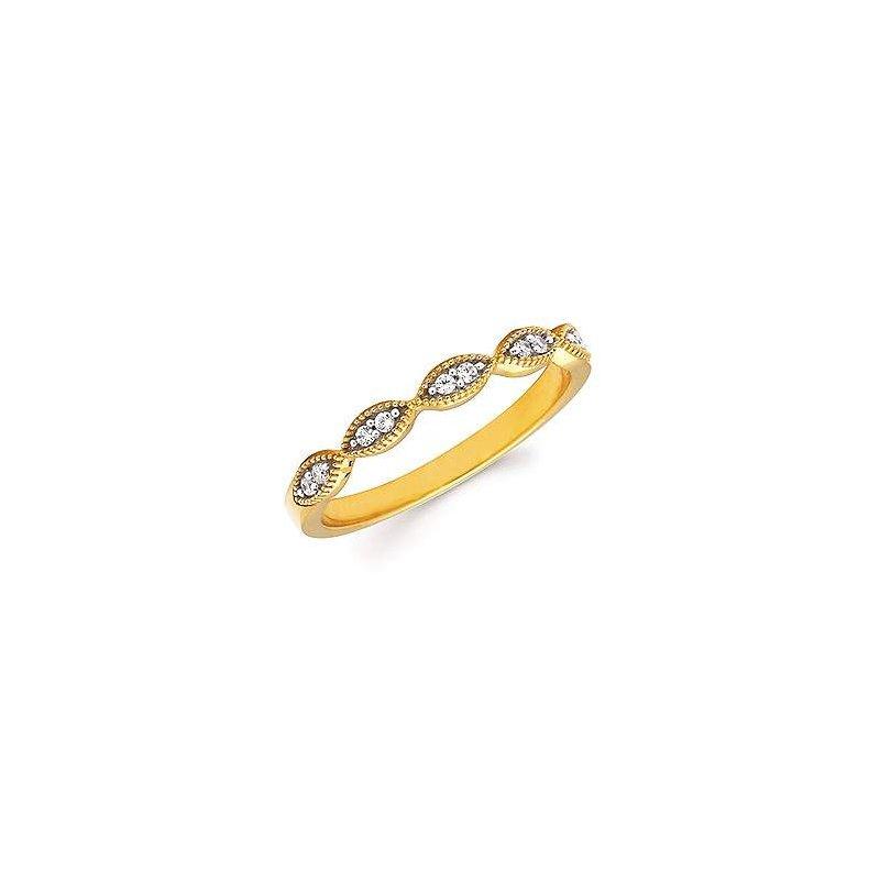 Ostbye Ladies' 14k Yellow Gold Diamond Ring