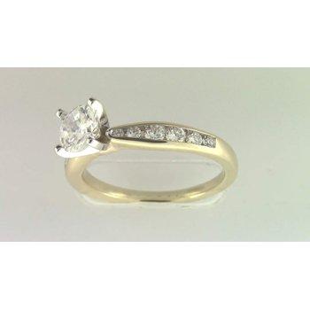 Ladies' 14k Yellow Gold 5.5 Mm CZ Ring