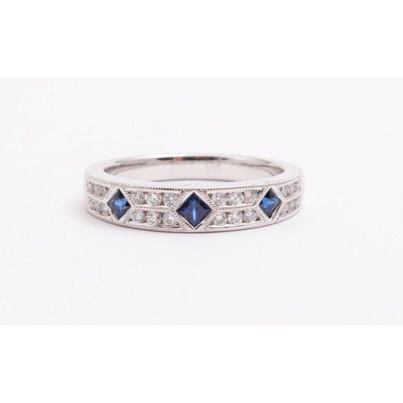 Allison-Kaufman 14k White Gold Sapphire Ring