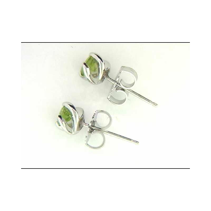 Ostbye Ladies' 14k White Gold Peridot Earrings