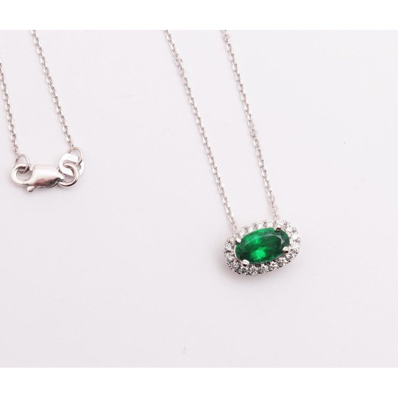 Pugh's Signature 14k White Gold Emerald Pendant