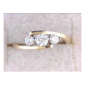 14k White And Yellow Gold Diamond Anniversary Band