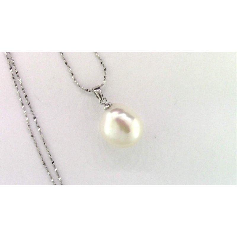 Pugh's Signature Sterling Freshwater Pearl Pendant