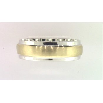 Gentlemans' 10k White And Yellow Gold Ring