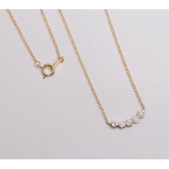 14k White And Yellow Gold Diamond Necklace