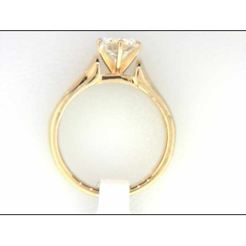 Ladies' 14k Yellow Gold CZ Stone Ring Mounting