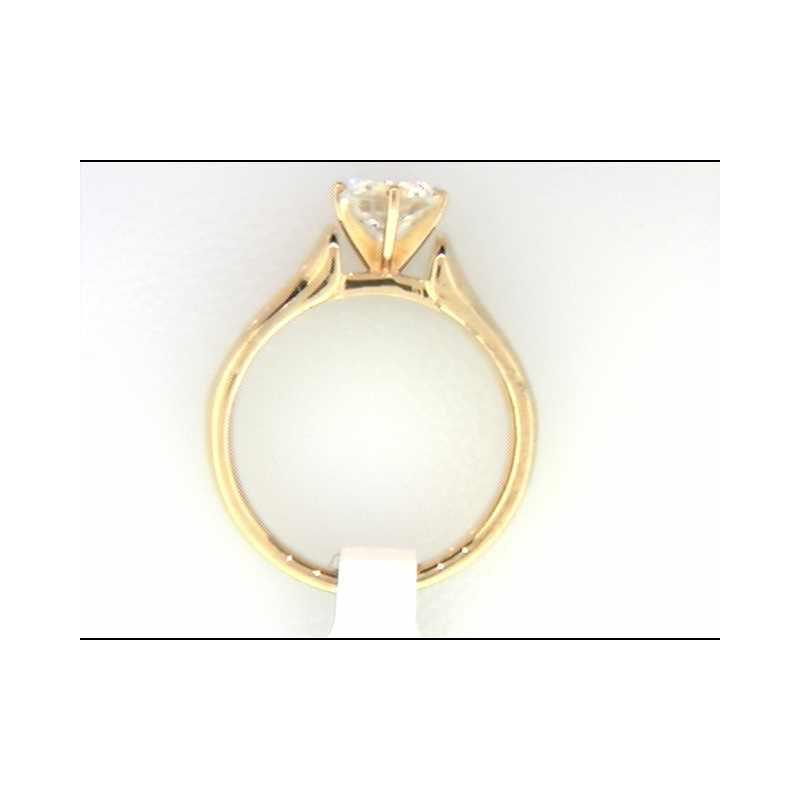 Ostbye Ladies' 14k Yellow Gold CZ Stone Ring Mounting