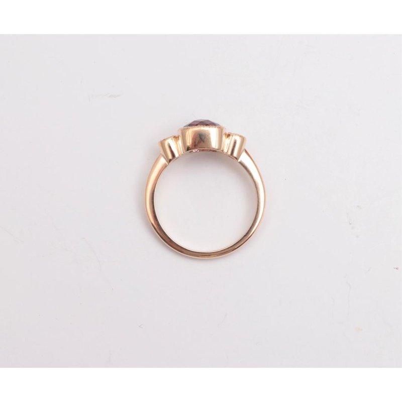 Pugh's Signature 14k Yellow Gold Rhodolite Garnet Ring