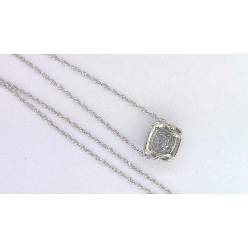 Pugh's Signature 14k White Gold Diamond Pendant