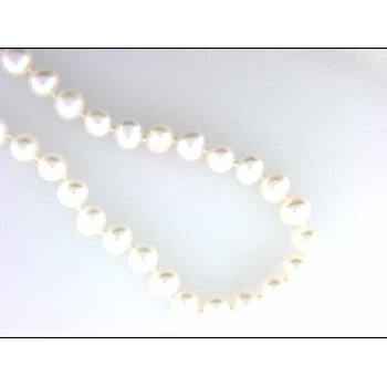 14k White Gold Freshwater Pearl Pearl Necklace