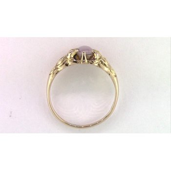 14k Yellow Gold Star Sapphire Ring