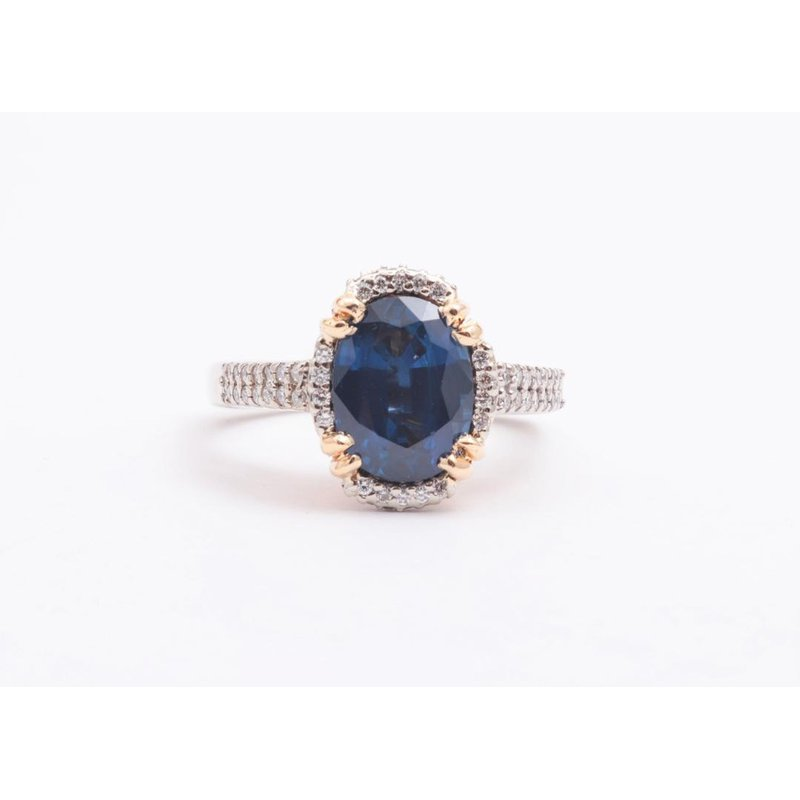 Pugh's Signature 14k White And Yellow Gold Sapphire Ring