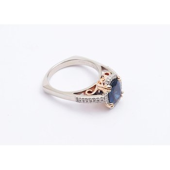 14k White And Yellow Gold Sapphire Ring