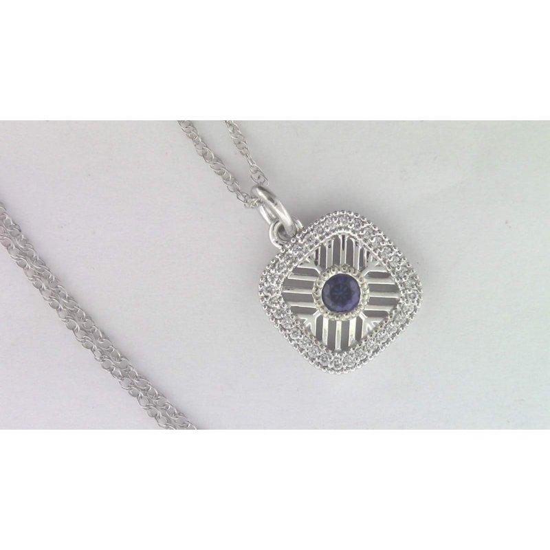 Pugh's Signature Ladies' 14k White Gold Sapphire Pendant