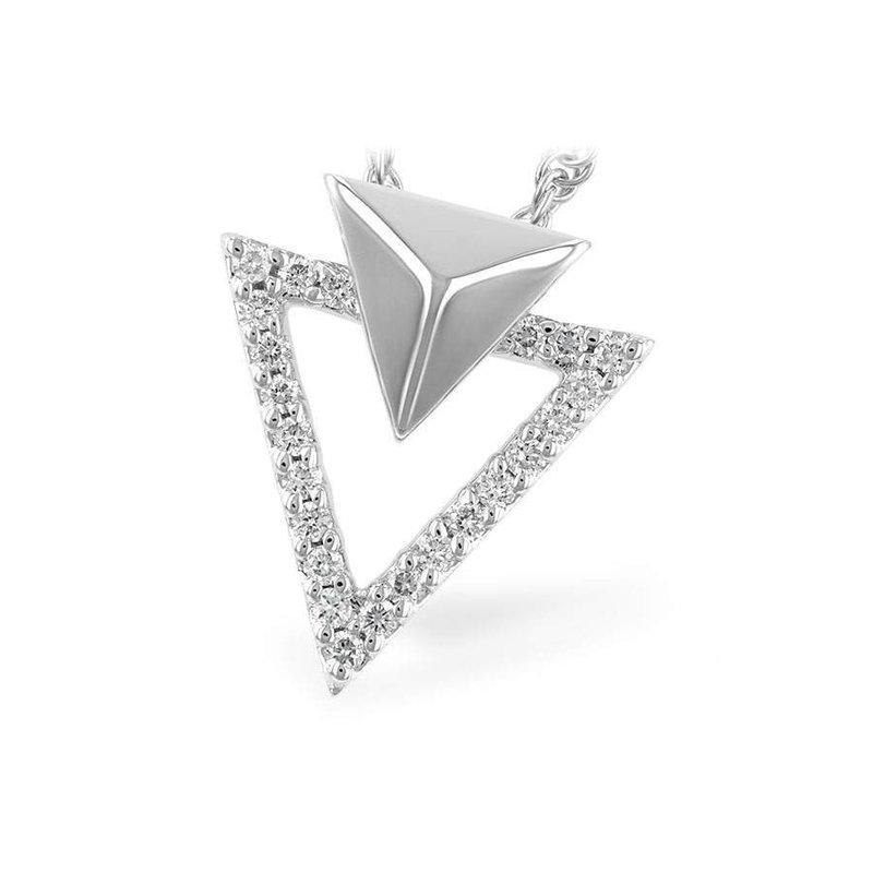 Allison-Kaufman Ladies' 14k White Gold Diamond Pendant