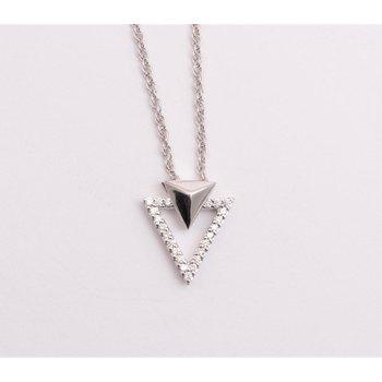 Ladies' 14k White Gold Diamond Pendant