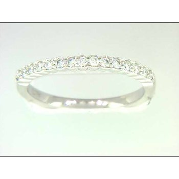 Ladies' 14k White Gold Diamond Wedding Ring