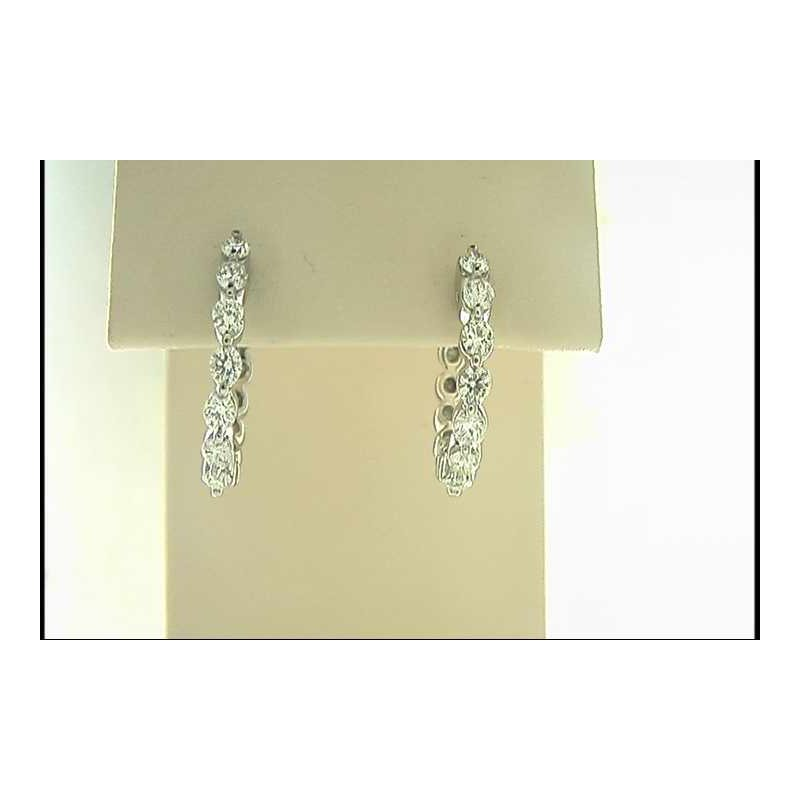 Pugh's Signature 14k White Gold Diamond Earrings