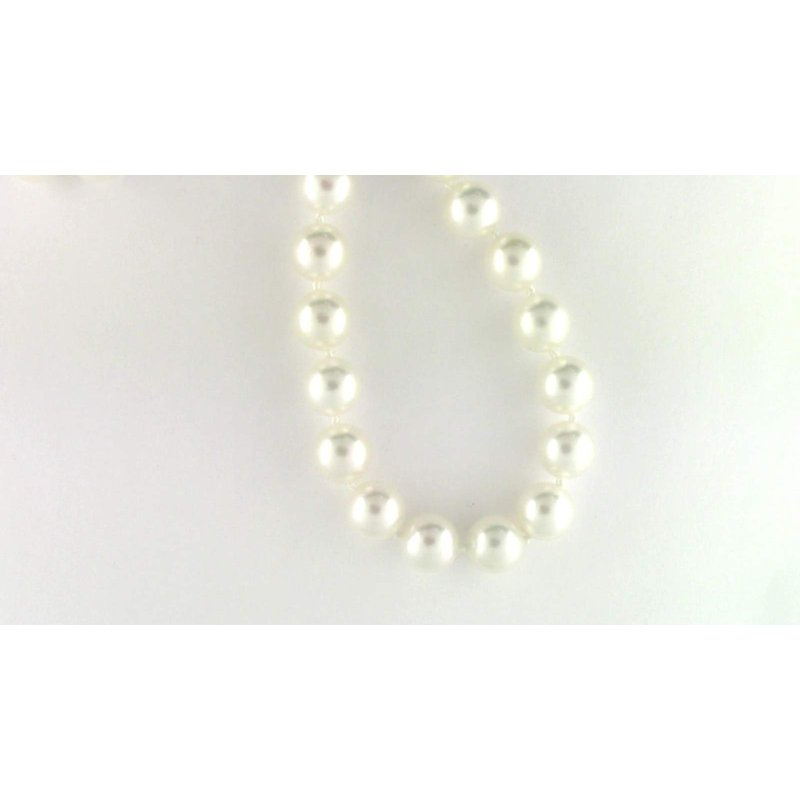 Pugh's Signature 14k White Gold Akoya Cultured Pearl Pearl Strand