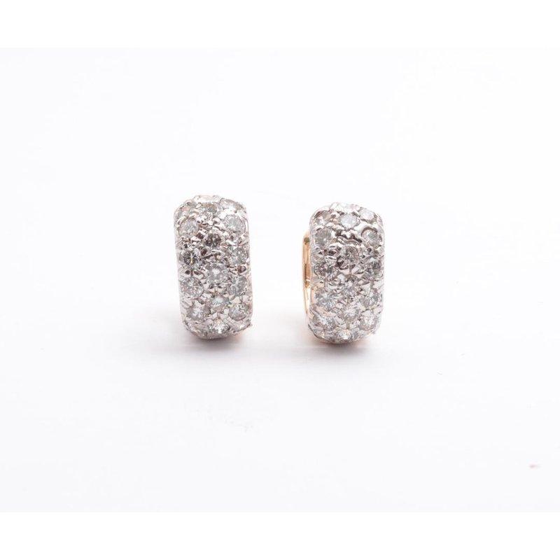 Pugh's Signature 14k White And Yellow Gold Diamond Earrings