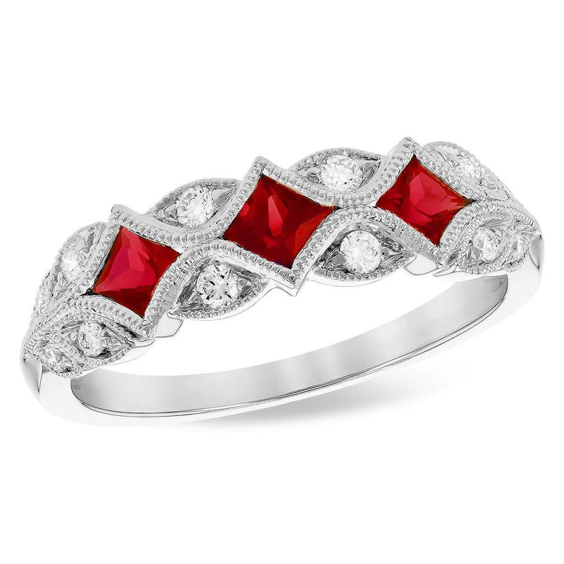 Allison-Kaufman 14k White Gold Ruby Ring