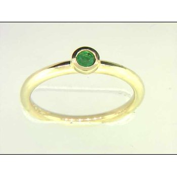 14k Yellow Gold Colored Stone Ring
