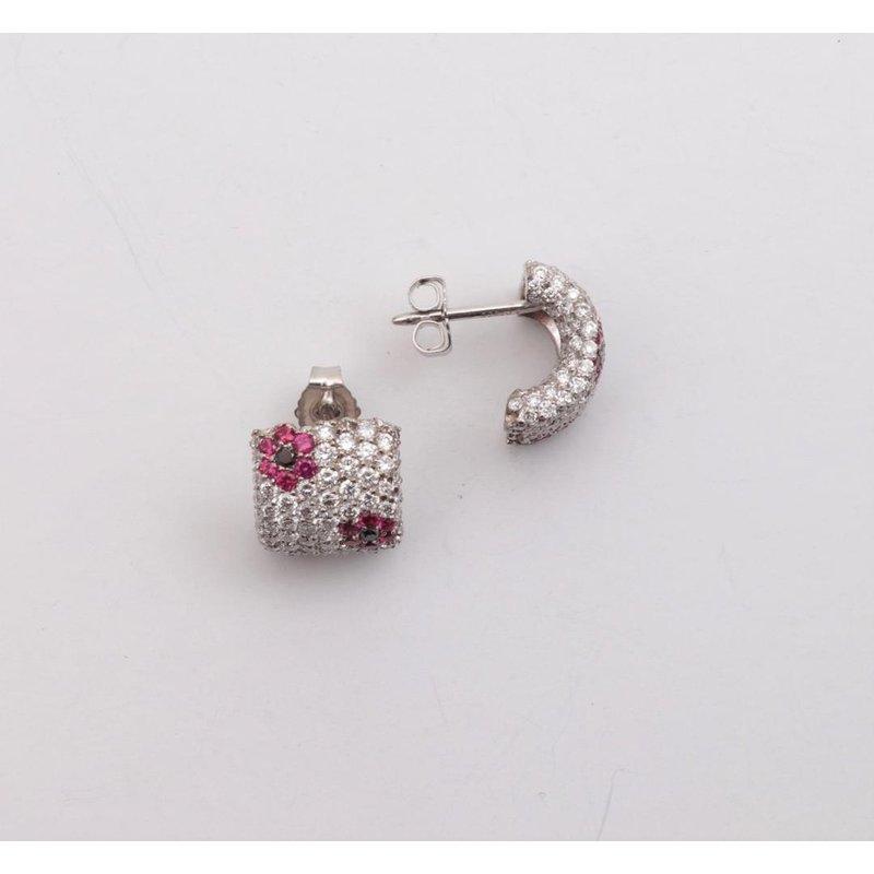 Pugh's Signature Ladies' Platinum Diamond and ruby earrings