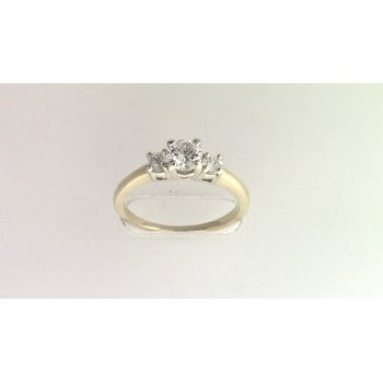 Ladies' 14k White And Yellow Gold Diamond Ring