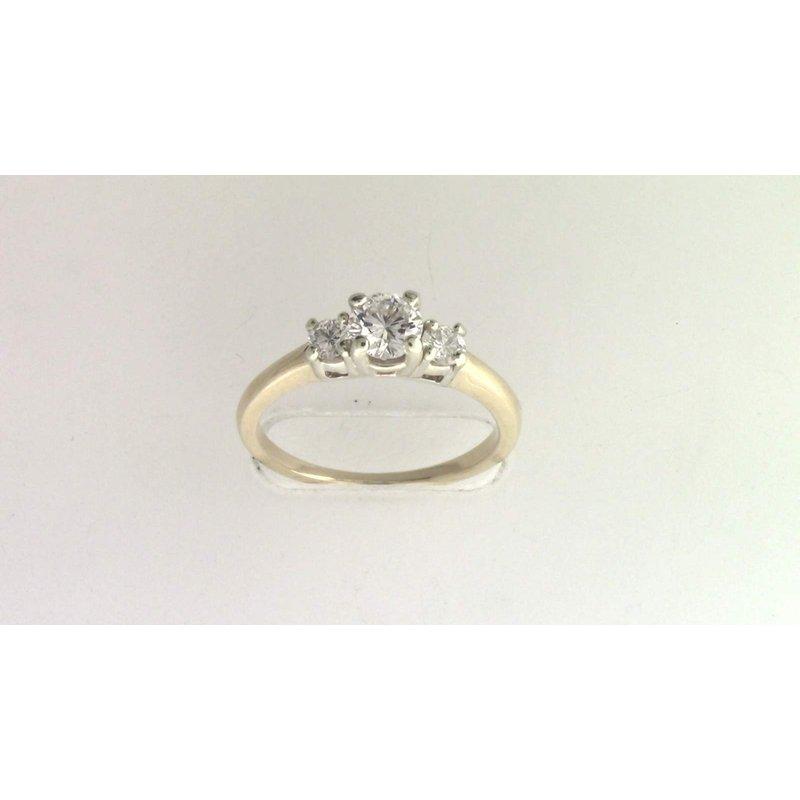 Pugh's Signature Ladies' 14k White And Yellow Gold Diamond Ring
