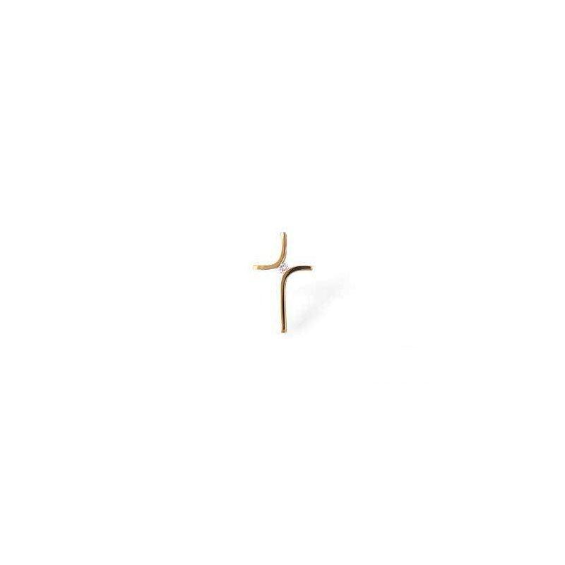 Allison-Kaufman 14k Yellow Gold Diamond Cross