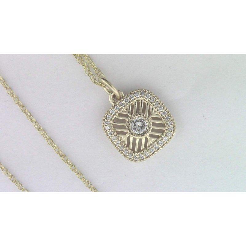 Pugh's Signature Ladies' 14k Yellow Gold Diamond Pendant