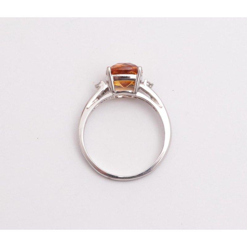 Pugh's Signature 14k White Gold Citrine Quartz Ring