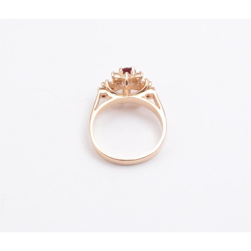 Pugh's Signature 14k Yellow Gold Ruby Ring
